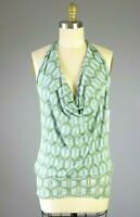 SWEET PEA By Stacy Frati NWT Nylon Mesh Geo Print Halter Top Size Medium