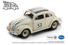 1:18 HERBIE THE LOVE BUG #53 1962 VW VOLKSWAGEN BEETLE HOT WHEELS DIE-CAST CAR
