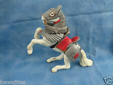 Papo 2005 Fantasy Knight Replacement Horse Figure White / Silver