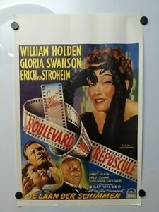 """Sunset Boulevard poster vintage French release 21x14"""""""