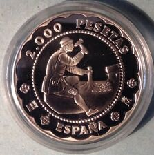 SPAIN - SILVER COIN - CASA DE LA MONEDA DE SEGOVIA 2001 - PROOF .
