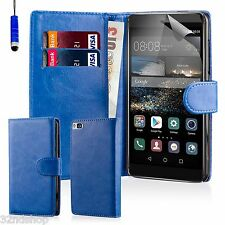 32nd Book Wallet PULeather Case for Huawei PHONES Screen Protector & Stylus Deep Blue Huawei Ascend P7 Mini