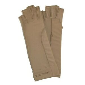 New Isotoner Therapeutic Compression Fingerless Gloves (Pack of 2)