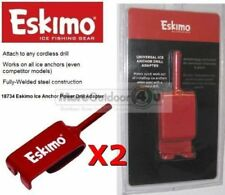 18734 Eskimo 2 Ice Anchor Power Drill Adapter Pair Anchors Ice Fishing Shelter