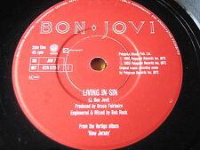"""BON JOVI - LIVING IN SIN   7"""" VINYL"""