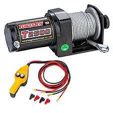 Tungsten4x4 Utility ATV/UTV Electric 2500lbs Winch with Hand Control T2500