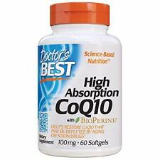 Doctor's Best High Absorption CoQ10 with BioPerine, Gluten Free, Naturally Ferme