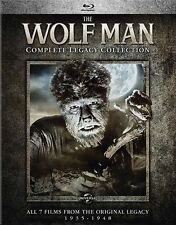 The Wolf Man Complete Legacy Collection Blu Ray 4 Disc Set 7 Films Horror