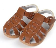 Boys Brown Genuine Leather Sandal