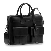 Cartella The Bridge Briefcase 39 x 31 x 8,5 cm pelle uomo borsa 0641206O-nero
