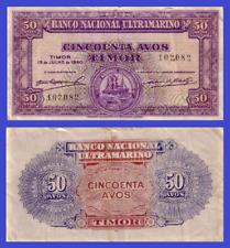 Timor 50 avos 1940 UNC - Reproduction