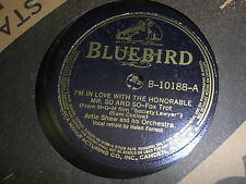 ARTIE SHAW BLUEBIRD 78 RPM RECORD 10188 HONORABLE MR SO AND SO / PROSSCHAI