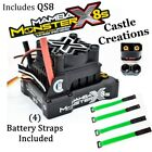 Castle Creations 010-0165-00  Mamba Monster X 8S ESC With QS8 & Green Straps