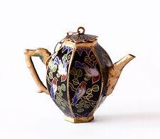 Vaso Brocca Cloisonnè Rame Cinese Oriental Ancient Old Antique Vase Cina H.5 cm