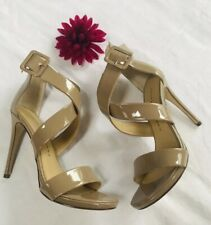 Chinese Laundry Blackjack Ankle Strap Pumps, Patent Nude, 9 US / 40 EU