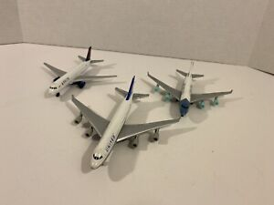 Realtoy Lot of 3 Airplanes Delta, United Commercial Airliners Diecast Planes
