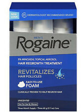 Men's Rogaine Hair Regrowth Treatment Foam Unscented 3 month supply