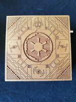 Disney Star Wars Galaxy's Edge Darth Vader Theme Wooden Laser Cut Music Box
