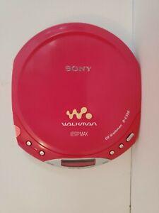 Pink Sony DE330 Walkman ESPMAX Portable CD Player Tested Working RARE VINTAGE
