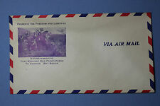 ORG. 1943 H.C. Hill Flint MI/MICH/MICHIGAN WWII buy war bonds air mail envelope