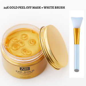 ⭐High Quality⭐24K Gold Peel Off Skin Care Face Mask with Brush–150g
