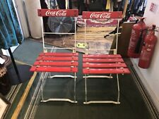 More details for pair of vintage coca cola chairs