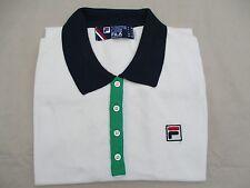 Fila Retro Borg Knit Cotton Polo Shirt Tennis  - Small Vintage Reissue