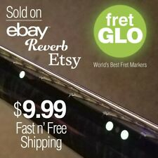 """Fret Glo """"Glow in the dark fret position marker dots for stringed Instruments"""""""