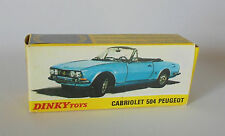 Repro Box Dinky Nr.1423 Peugeot 504 Cabriolet