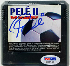 Pele II Accolade Signed Sega Genesis Video Game Autographed Brazil PSA DNA COA
