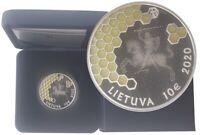 10 Euro Silber Baumbienenhaltung - Bienenwaben Litauen 2020 PP