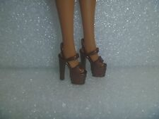 Barbie Shoes - Bronze Extreme Platform Stiletto Heel Pole Dancer Style Rare