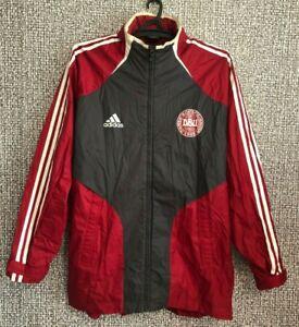 Denmark National Football Team DBU Soccer Longsleeve Zip Jacket Jersey Mens L/XL