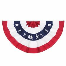 Usa Pleated Fan Flag Anley United States 3x6 Ft Half Fan Banner Bunting Flags