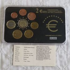 .FINLAND 2006 COMMEMORATIVE 2 EURO IN 8 COIN EURO TYPE SET - pack/coa
