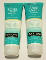 Neutrogena Deep Clean Purifying Clay Cleanser Mask *2 PACK* 4.2 Oz Ea Exp 09/20