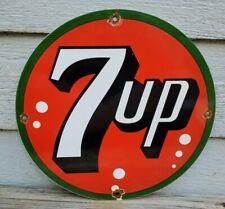OLD VINTAGE 7 UP PORCELAIN ADVERTISING SODA SIGN BEVERAGE ADVERTISEMENT POP