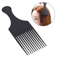 Pro Salon Styling Hairdressing Cutting Plastic Black Wide Long Tooth Hair Comb