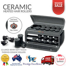 Ceramic Heated Hair Rollers Electric 40mm Waver Leverage Curlers Curling Styling