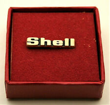 Vintage Shell Oil & Gas Brass Award Hat Lapel Pin NOS New 1980s