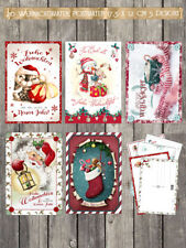20 Weihnachtskarten, Postkarten 17,5 x 12 cm, 5 versch. Designs im Set,#2.0