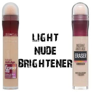 Maybelline Instant Anti-Age Eraser Eye Concealer 6.8ml - Light, Nude &Brightener