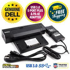 DELL USB 3.0 E-Port Plus Docking Station + Adapter E5450 E5470 E5500 E5510 E5520