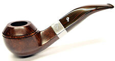 Peterson Harp Sterling Silver Mounted Bent Rhodesian Pipe (80s)