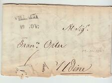 1841 AUSTRIA Entire VILLACH-UDINE (Italy)-Linear+date Cancel-h446