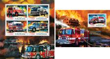 Fire Engines Trucks Transport Firefighters Feuerwehrleute Togo MNH stamp set