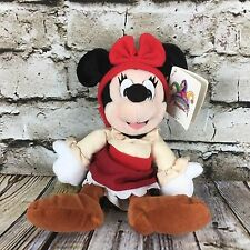 "Disneyland Minnie Mouse New Orleans Square 9"" Beanbag Stuffed Plush Doll W/ Tags"