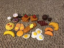 Pretend Play Fake Kitchen Toy Food Lot Breakfast Pancake Egg Bacon Muffin 11