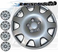 "Metallic Silver 4pcs Set #502 15"" Inches Hubcaps Hub Cap Wheel Cover Rim Skin"