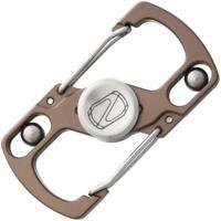 Stedemon Fidget Spinner Keychain Silver Stonewash Titanium Finger Z06STN
